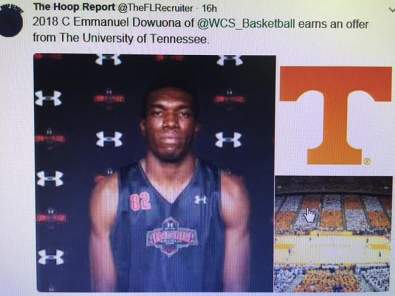 Emmanuel Dowuona receives offer from University of Tennessee
